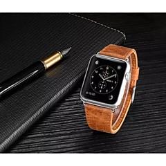 Reloj de la venda para el reloj de la manzana 38mmm 42m m cuero wristband del stap del reemplazo con el adaptador