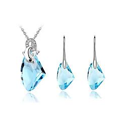 Dames Kostuum juwelen Kristal Kettingen Oorbellen Voor Bruiloft Feest Verjaardag Verloving Dagelijks Causaal Giften van het Huwelijk