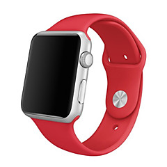 halpa Apple Watch-hihnat-Watch Band varten Apple Watch Series 3 / 2 / 1 Apple Rannehihna Urheiluhihna Silikoni