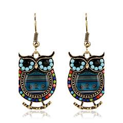 Drop Earrings Crystal Pearl Imitation Pearl Rhinestone 18K gold Simulated Diamond Alloy Fashion Green Blue Jewelry 2pcs