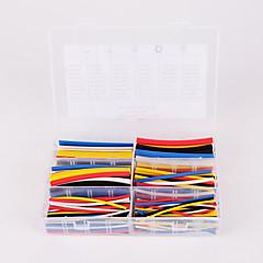 Недорогие Ремонтные инструменты-iztoss 180pcs 90mm соотношении 2: 1 6 размер комплект φ1.6-9.5 0.8mm-4.8mm полиолефиновая термоусадочная трубка рукав кабель обруча