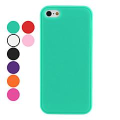 お買い得  iPhone 5 ケース-のために iPhone 5ケース 耐衝撃 ケース バックカバー ケース ソリッドカラー ソフト シリコン iPhone SE/5s/5