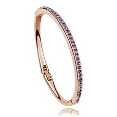 preiswerte Armbänder-Damen Kristall Armreife - Krystall Liebe Armbänder Purpur / Rose / Regenbogen Für Hochzeit / Party / Alltag