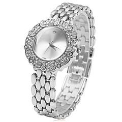 Mujer Reloj de Moda Cuarzo La imitación de diamante Acero Inoxidable Banda Flor Plata Dorado Dorado Plata