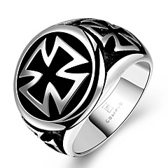 preiswerte Ringe-Herrn Statement-Ring - Edelstahl Kreuz Einzigartiges Design, Modisch 8 / 9 / 10 / 11 Für Weihnachts Geschenke