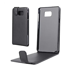 Недорогие Чехлы и кейсы для Galaxy Note 5-Кейс для Назначение SSamsung Galaxy Samsung Galaxy Note Флип Чехол Сплошной цвет Кожа PU для Note 5 Note 4 Note 3 Note 2 Note