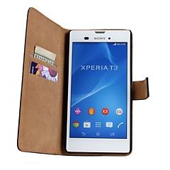 halpa -ylellisyyttä lompakko tyyli pattern PU nahka läppä tapauksessa magneetti snap ja kortti Sony Xperia t3 / z3 mini / m2