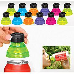 abordables Drinking Tools-conjunto de 6 creativos de soda protectores acolchados de tapas de botellas reutilizables pueden convertir