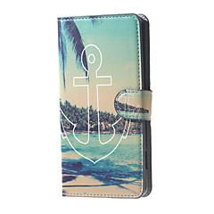 يرسو على شاطئ البحر عرض نمط محفظة جلد حالة الوجه الوقوف مع فتحة لبطاقة لميا مايكروسوفت 650