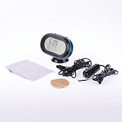 preiswerte Autozubehör-Multifunktionsmini Voltmeter Thermometer Auto lcd mit Spannung Meter Wecker Digitalanzeige Temperaturspannung