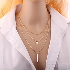 preiswerte Halsketten-Damen Mehrschichtig Halsketten - Modisch, Mehrlagig Silber, Golden Modische Halsketten Schmuck Für Hochzeit, Party, Alltag