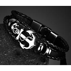 preiswerte -Herrn Ketten- & Glieder-Armbänder Modeschmuck Leder Schmuck Für Party Alltag Normal Sport Weihnachts Geschenke