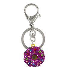 Недорогие Женские украшения-мода мило горный хрусталь набор металлические пончики кольцо для ключей / сумки аксессуары