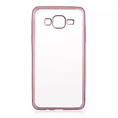 For Samsung Galaxy etui Belægning Transparent Etui Bagcover Etui Helfarve TPU for Samsung J7 J5 Grand Prime