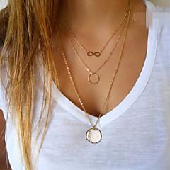 Naisten Riipus-kaulakorut Circle Shape äärettömyys Metalliseos Muoti minimalistisesta Eurooppalainen pukukorut Korut Käyttötarkoitus