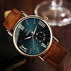 お買い得  大特価腕時計-男性用 リストウォッチ クォーツ 30 m レザー バンド ハンズ ブラウン - ブラック ネービーブルー / ステンレス