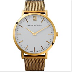preiswerte Herrenuhren-Herrn Armbanduhr Armbanduhren für den Alltag Edelstahl Band Silber / Gold