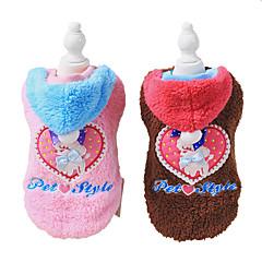 お買い得  犬用ウェア&アクセサリー-犬 コート 犬用ウェア Brown / ブルー / ピンク コーデュロイ コスチューム ペット用 男性用 / 女性用 ファッション