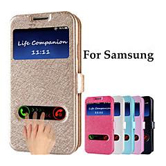 Назначение Samsung Galaxy Note Чехлы панели с окошком Флип Чехол Кейс для Сплошной цвет Искусственная кожа для Samsung Note 5