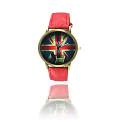 preiswerte Tolle Angebote auf Uhren-Herrn Armbanduhr Quartz Leder Band Analog Schwarz / Weiß / Blau - Grün Blau Rosa