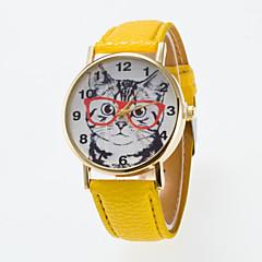 tanie Zegarki damskie-Damskie Kwarcowy Zegarek na nadgarstek Na codzień PU Pasmo Urok Modny Czarny Biały Niebieski Czerwony Pomarańczowy Brązowy Zielnony