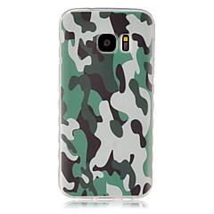 voordelige Galaxy S6 Edge Hoesjes / covers-Voor Samsung Galaxy hoesje Patroon hoesje Achterkantje hoesje Camouflage Kleur TPU SamsungS7 / S6 edge / S6 / S5 Mini / S5 / S4 Mini / S4