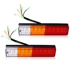 abordables Bombillas LED para Coche-2x llevó luces traseras de freno de parada del remolque del camión barco caravana reverse indicador 12v