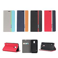 Varten Samsung Galaxy kotelo Tuella / Flip Etui Kokonaan peittävä Etui Linjat / aallot Tekonahka SamsungS5 Mini / S5 / S4 Mini / S4 / S3
