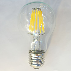 E26/E27 LED Filament Bulbs A60(A19) 12 COB 1050 lm Warm White Natural White 2700 K Waterproof Decorative AC 220-240 V 1pc