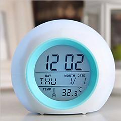 お買い得  クロック-自然の音とデジタルledグローチェンジクロックアラーム温度計