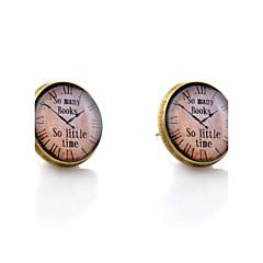 preiswerte Ohrringe-Monogramme Ohrstecker - Simple Style, Modisch, Erste Schmuck Bronze Für Hochzeit Party Alltag