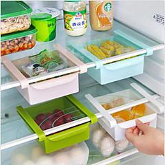 선반 랙 홀더 보관 주최자 슬라이드 보호기 DIY 주방 냉장고 공간