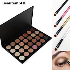 28 kleuren oogschaduw rokerige / base primer / foundation / blusher / bronzer professionele make-up palet met 4 oogschaduw borstel
