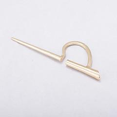 Κουμπωτά Σκουλαρίκια Κοσμήματα Μοντέρνα Εξατομικευόμενο Euramerican Κράμα Taper Shape Χρυσό Κοσμήματα Για Καθημερινά Causal 1pc