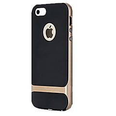 Недорогие Кейсы для iPhone 5-Кейс для Назначение iPhone 5 Apple Кейс для iPhone 5 Защита от удара Кейс на заднюю панель броня Твердый ПК для iPhone SE/5s iPhone 5