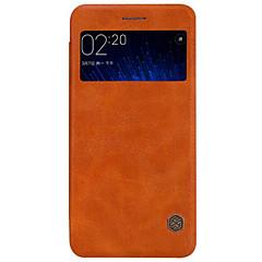 Для Кейс для Mi с окошком / Флип Кейс для Задняя крышка Кейс для Один цвет Твердый Натуральная кожа Xiaomi
