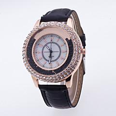 preiswerte Damenuhren-Damen Sportuhr / Armbanduhr / Pavé-Uhr Großes Ziffernblatt Echtes Leder Band Charme / Modisch / Kleideruhr Mehrfarbig / Ein Jahr / SSUO LR626