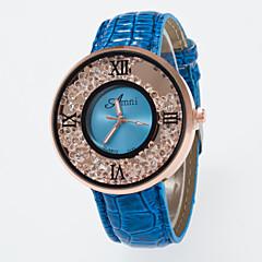 preiswerte Damenuhren-Damen Quartz Imitation Diamant PU Band Analog Charme Modisch Schwarz / Weiß / Blau - Rose Rot Blau Ein Jahr Batterielebensdauer / Jinli 377