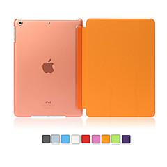 abordables Carcasas y Fundas para iPad Air-Funda Para iPad Air con Soporte Activado / Apagado Automático Funda de Cuerpo Entero Color sólido Cuero de PU para iPad Air
