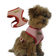 abordables Accesorios Mascota-Perro Bozales Ajustable / Retractable Rayas Tejido Rojo Azul