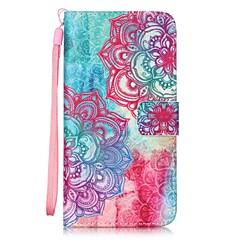 voordelige Hoesjes / covers voor LG-hoesje Voor LG LG G5 LG hoesje Kaarthouder Portemonnee met standaard Flip Patroon Volledig hoesje Mandala Hard PU-nahka voor