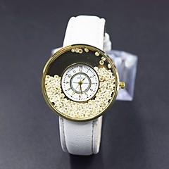 preiswerte Damenuhren-Damen Modeuhr Simulierter Diamant Uhr Pavé-Uhr Quartz Schwarz / Weiß Imitation Diamant Analog-Digital Blume - Weiß Schwarz