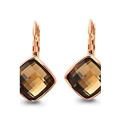 preiswerte Ohrringe-Damen Kristall Tropfen-Ohrringe - Kubikzirkonia Orange / Grün Für