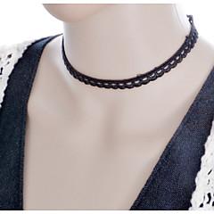 Женский Тату-дизайн Ожерелья-бархатки Ожерелья-обручи Готический ювелирные изделия Татуировка Choker Кружево Ткань Ожерелья-бархатки