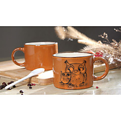 رسمت باليد السيراميك كأس كبير شخصية أكواب فنجان القهوة مطعم الرجعية كوب الشاي 300 مل