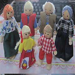 piękny dom lalki sześcioosobowej rodziny drewniane lalki lalki i ruchome wspólna scena zmienia kształt