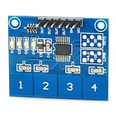 abordables Sensores-módulo de conmutador táctil capacitivo ttp224 sensor táctil de 4 vías digitales para Arduino