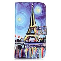 Недорогие Чехлы и кейсы для LG-Кейс для Назначение LG K8 LG LG K10 LG K7 LG G5 Бумажник для карт Кошелек со стендом Флип Магнитный С узором Чехол Эйфелева башня Твердый