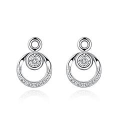 preiswerte Ohrringe-Damen Kristall Ohrstecker Tropfen-Ohrringe - versilbert Silber Für Hochzeit Party Alltag