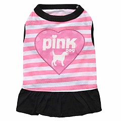 お買い得  犬用ウェア&アクセサリー-ネコ 犬 ドレス 犬用ウェア 花/植物 パープル ピンク コットン コスチューム ペット用 男性用 女性用 ファッション